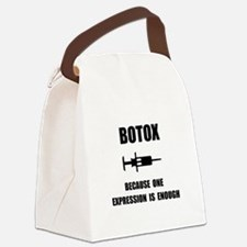 Botox Expression Canvas Lunch Bag