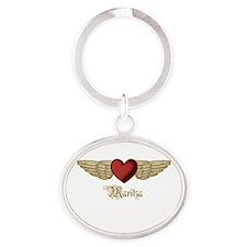 Maritza the Angel Oval Keychain