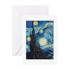 Van Gogh Starry Night Impressionist Greeting Card