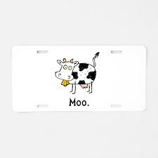 Cartoon Cow Moo Aluminum License Plate