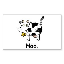 Cartoon Cow Moo Decal