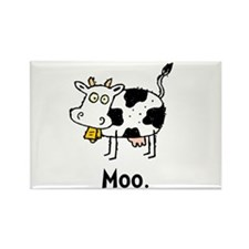 Cartoon Cow Moo Rectangle Magnet (100 pack)