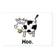 Cartoon Cow Moo Postcards (Package of 8)