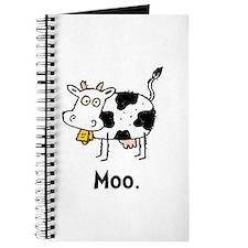 Cartoon Cow Moo Journal