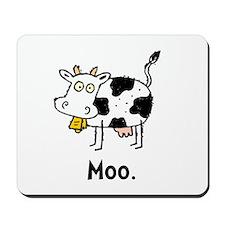 Cartoon Cow Moo Mousepad