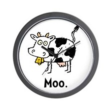 Cartoon Cow Moo Wall Clock