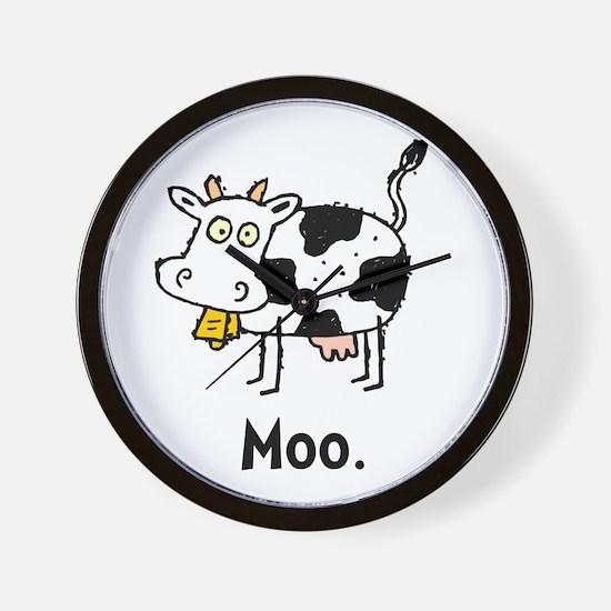 Cartoon Cow Moo Wall Clock
