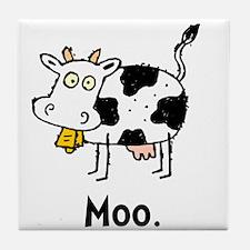 Cartoon Cow Moo Tile Coaster