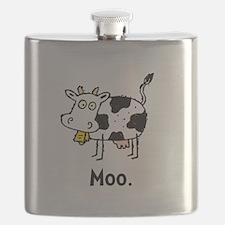 Cartoon Cow Moo Flask