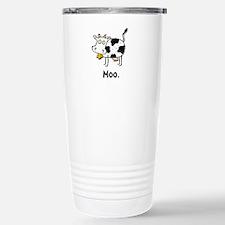 Cartoon Cow Moo Travel Mug