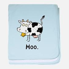 Cartoon Cow Moo baby blanket