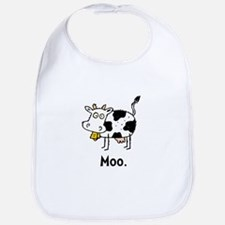 Cartoon Cow Moo Bib