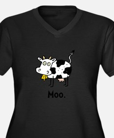 Cartoon Cow Moo Plus Size T-Shirt