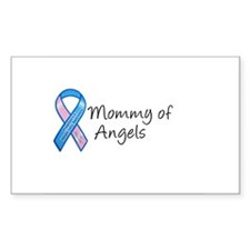 Mommy of Angels Rectangle Decal