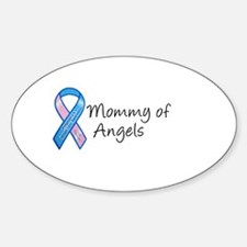 Mommy of Angels Oval Stickers