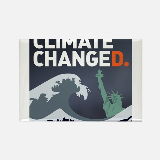 Climate ChangeD Rectangle Magnet
