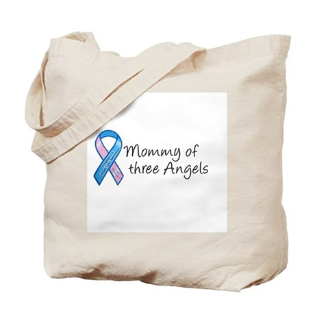 Mommy of Three Angels Tote Bag