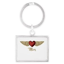 Mary the Angel Landscape Keychain