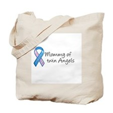Mommy of Twin Angels Tote Bag