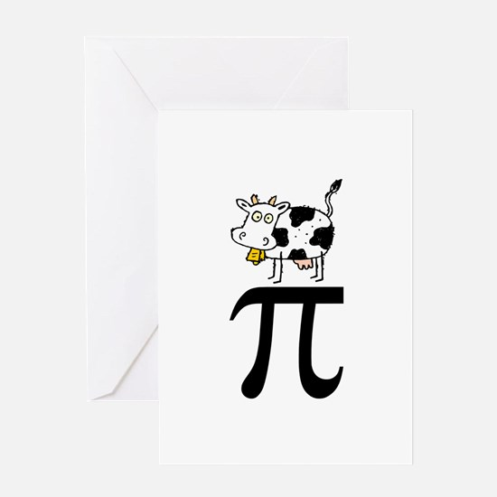 Cow Pi Greeting Card
