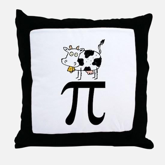 Cow Pi Throw Pillow
