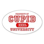 Cupid University Oval Sticker