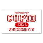Cupid University Rectangle Sticker