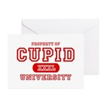 Cupid University Greeting Cards (Pk of 10)