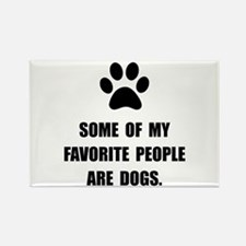 Favorite People Dogs Rectangle Magnet (10 pack)