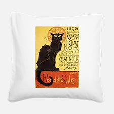 Chat Noir Cat Square Canvas Pillow