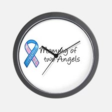 Mommy of Two Angels Wall Clock
