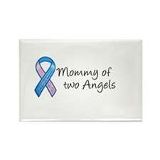 Mommy of Two Angels Rectangle Magnet