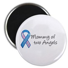 """Mommy of Two Angels 2.25"""" Magnet (100 pack)"""