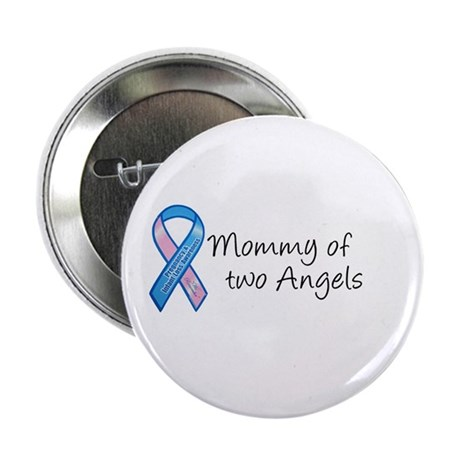 "Mommy of Two Angels 2.25"" Button (100 pack)"