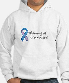 Mommy of Two Angels Hoodie