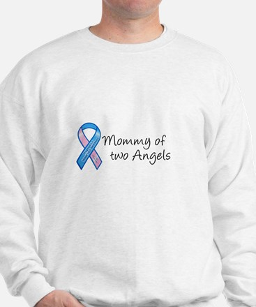 Mommy of Two Angels Sweatshirt