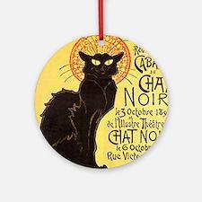 Chat Noir Cat Ornament (Round)