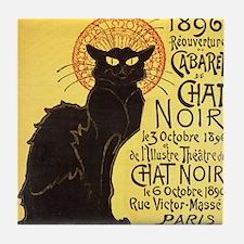 Chat Noir Cat Tile Coaster