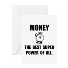 Money Super Power Greeting Card