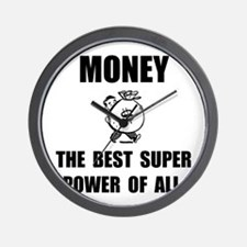 Money Super Power Wall Clock
