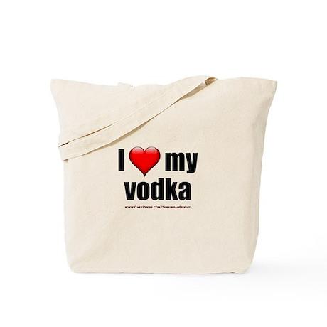 """""""Love My Vodka"""" Tote Bag"""