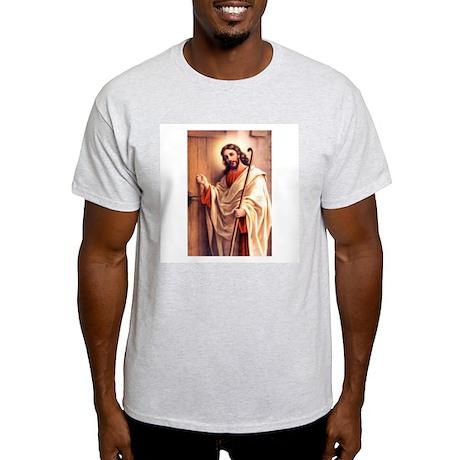 Jesus at Door Ash Grey T-Shirt