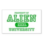 Alien University Rectangle Sticker