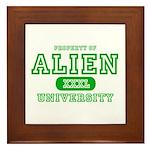 Alien University Framed Tile