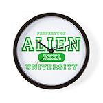 Alien University Wall Clock