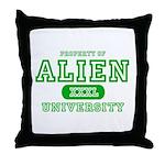 Alien University Throw Pillow