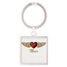 Mayra the Angel Square Keychain