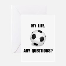 My Life Soccer Greeting Card