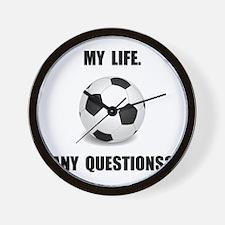 My Life Soccer Wall Clock