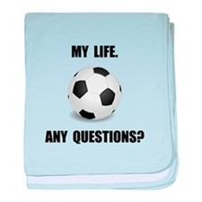 My Life Soccer baby blanket